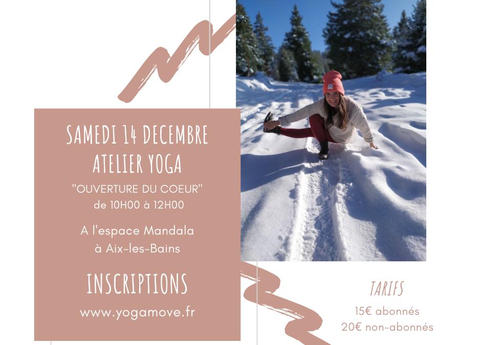 Atelier Yoga «Ouverture du coeur» le 14 décembre 2019 – Aix-les-Bains
