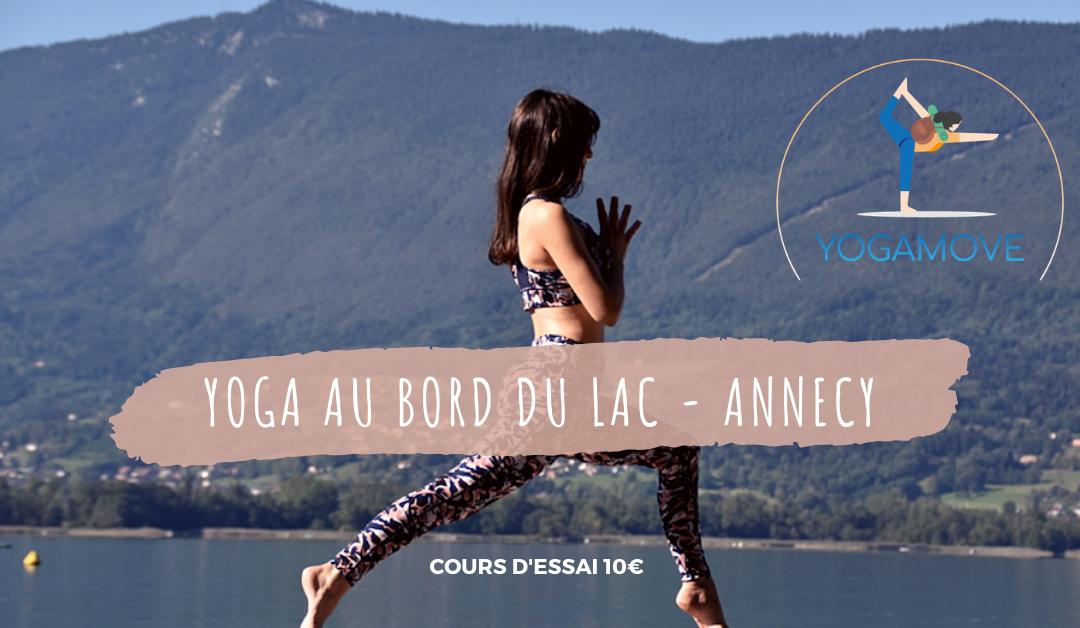 Yoga au bord du lac d'Annecy – Dimanche 12 & 19 Juillet à 9h30