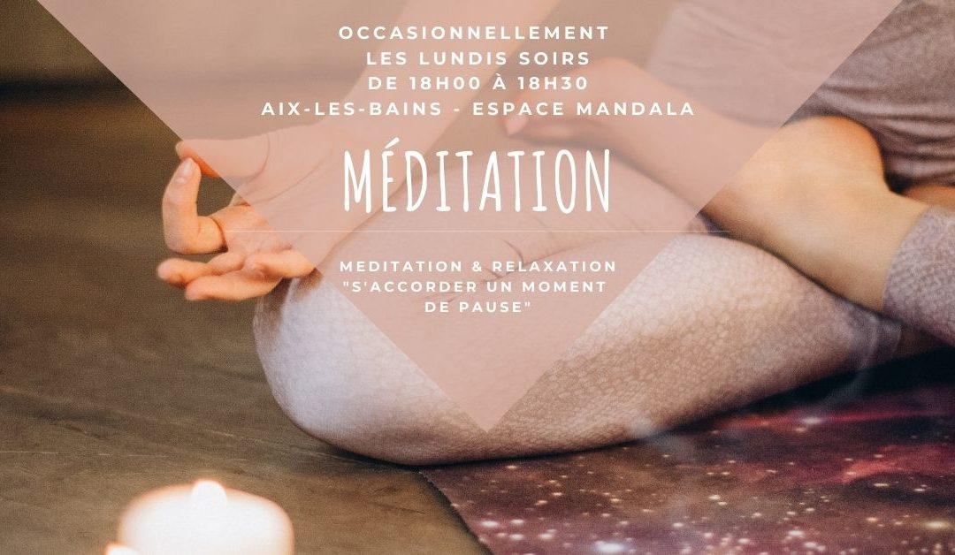 Méditation guidée – Lundi 5 octobre à Aix-les-Bains