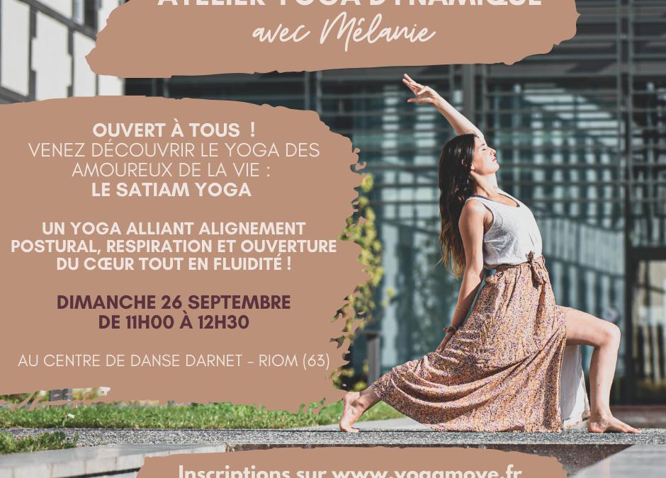 Atelier Yoga dynamique à Riom – Puy-de-Dôme (63)