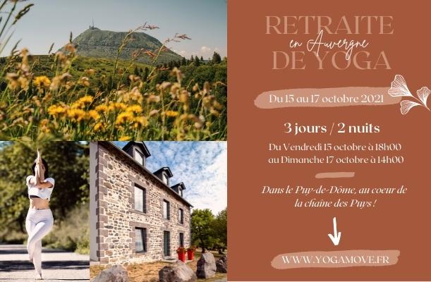 Retraite de Yoga – 15 au 17 octobre 2021 dans le Puy-de-Dôme en Auvergne, au coeur des volcans !